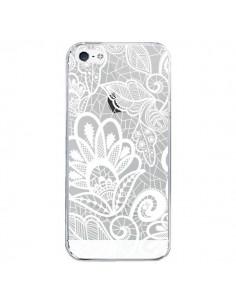 Coque Lace Fleur Flower Blanc Transparente pour iPhone 5/5S et SE - Petit Griffin