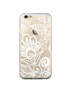 Coque Lace Fleur Flower Blanc Transparente pour iPhone 6 et 6S - Petit Griffin