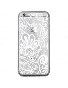Coque Lace Fleur Flower Blanc Transparente pour iPhone 6 Plus et 6S Plus - Petit Griffin