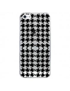 Coque Vichy Carre Noir Transparente pour iPhone 5/5S et SE - Petit Griffin