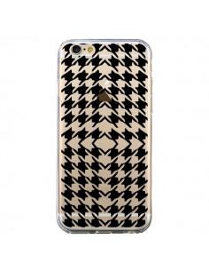 Coque Vichy Carre Noir Transparente pour iPhone 6 et 6S - Petit Griffin