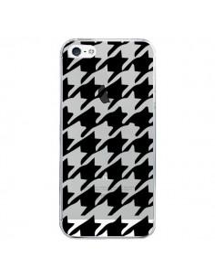 Coque Vichy Gros Carre noir Transparente pour iPhone 5/5S et SE - Petit Griffin