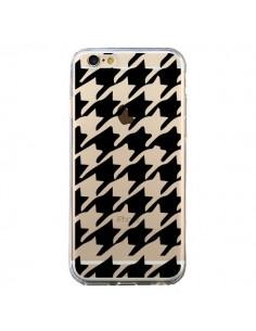 Coque Vichy Gros Carre noir Transparente pour iPhone 6 et 6S - Petit Griffin