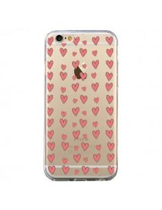 Coque Coeurs Heart Love Amour Rouge Transparente pour iPhone 6 et 6S - Petit Griffin