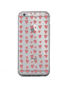 Coque Coeurs Heart Love Amour Rouge Transparente pour iPhone 6 Plus et 6S Plus - Petit Griffin