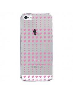 Coque iPhone 5/5S et SE Coeurs Heart Love Amour Rose Transparente - Petit Griffin