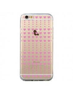 Coque Coeurs Heart Love Amour Rose Transparente pour iPhone 6 et 6S - Petit Griffin