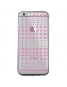 Coque Coeurs Heart Love Amour Rose Transparente pour iPhone 6 Plus et 6S Plus - Petit Griffin