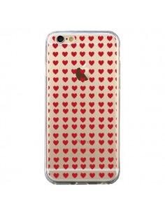 Coque Coeurs Heart Love Amour Red Transparente pour iPhone 6 et 6S - Petit Griffin