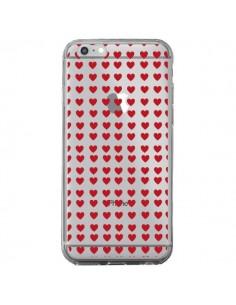 Coque Coeurs Heart Love Amour Red Transparente pour iPhone 6 Plus et 6S Plus - Petit Griffin