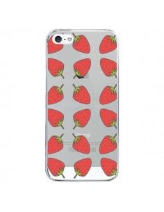 Coque Fraise Fruit Strawberry Transparente pour iPhone 5/5S et SE - Petit Griffin
