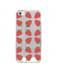 Coque iPhone 5/5S et SE Fraise Fruit Strawberry Transparente - Petit Griffin