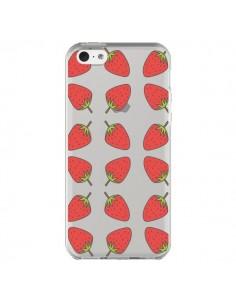 Coque Fraise Fruit Strawberry Transparente pour iPhone 5C - Petit Griffin