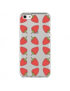 Coque iPhone 5C Fraise Fruit Strawberry Transparente - Petit Griffin