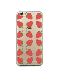 Coque Fraise Fruit Strawberry Transparente pour iPhone 6 et 6S - Petit Griffin