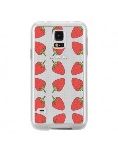 Coque Fraise Fruit Strawberry Transparente pour Samsung Galaxy S5 - Petit Griffin