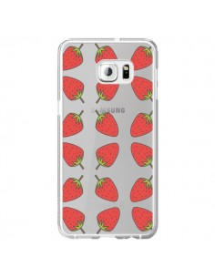 Coque Fraise Fruit Strawberry Transparente pour Samsung Galaxy S6 Edge Plus - Petit Griffin