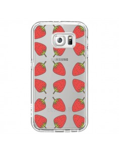 Coque Fraise Fruit Strawberry Transparente pour Samsung Galaxy S7 - Petit Griffin
