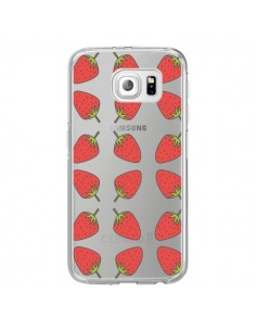Coque Fraise Fruit Strawberry Transparente pour Samsung Galaxy S7 Edge - Petit Griffin