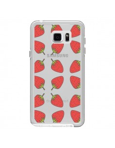 Coque Fraise Fruit Strawberry Transparente pour Samsung Galaxy Note 5 - Petit Griffin