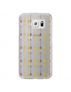 Coque Fleche Arrow Transparente pour Samsung Galaxy S6 Edge - Petit Griffin