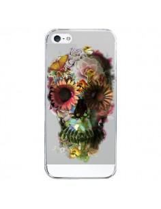 Coque iPhone 5/5S et SE Skull Flower Tête de Mort Transparente - Ali Gulec