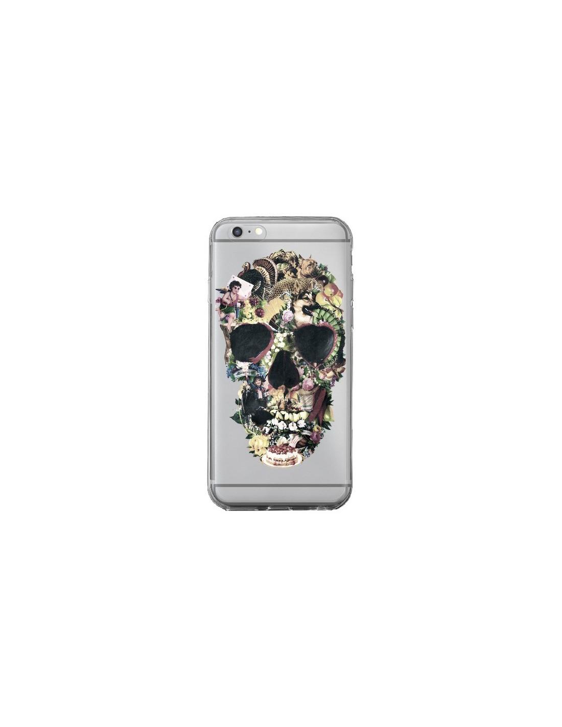 coque iphone xr silicone tete de mort