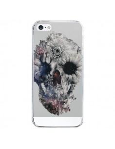 Coque iPhone 5/5S et SE Floral Skull Tête de Mort Transparente - Ali Gulec