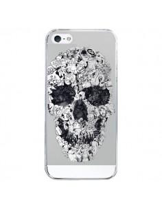 Coque iPhone 5/5S et SE Doodle Skull Dessin Tête de Mort Transparente - Ali Gulec