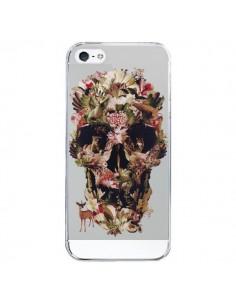 Coque iPhone 5/5S et SE Jungle Skull Tête de Mort Transparente - Ali Gulec