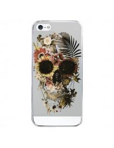 Coque iPhone 5/5S et SE Garden Skull Tête de Mort Transparente - Ali Gulec