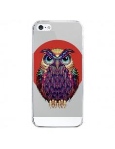 Coque iPhone 5/5S et SE Chouette Hibou Owl Transparente - Ali Gulec