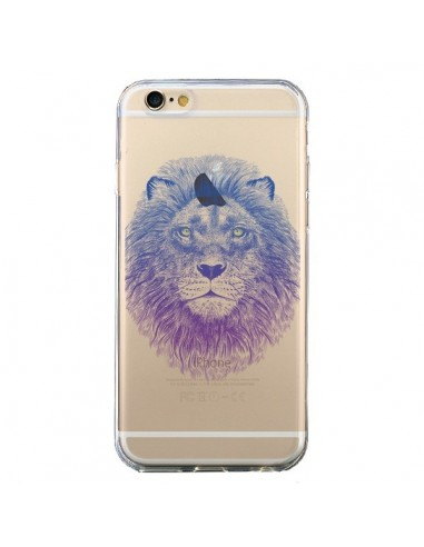 coque iphone 6 et 6s lion animal transparente rachel caldwell