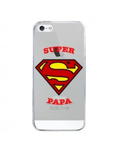 Coque Super Papa Transparente pour iPhone 5/5S et SE - Laetitia
