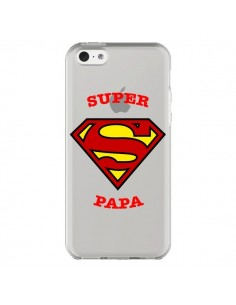 Coque Super Papa Transparente pour iPhone 5C - Laetitia