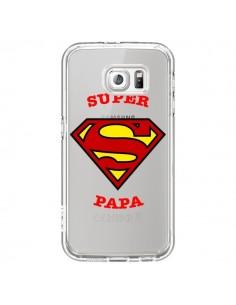 Coque Super Papa Transparente pour Samsung Galaxy S6 - Laetitia