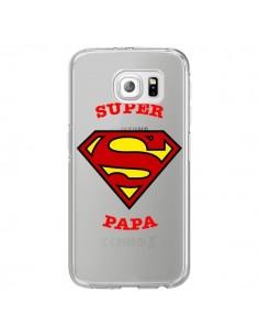 Coque Super Papa Transparente pour Samsung Galaxy S6 Edge - Laetitia