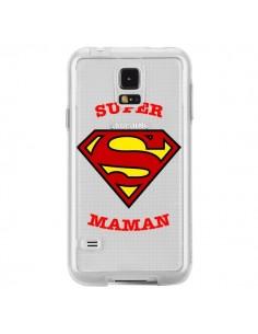 Coque Super Maman Transparente pour Samsung Galaxy S5 - Laetitia
