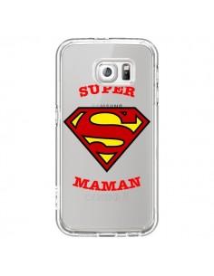 Coque Super Maman Transparente pour Samsung Galaxy S6 - Laetitia
