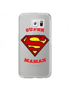 Coque Super Maman Transparente pour Samsung Galaxy S6 Edge - Laetitia