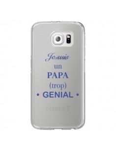 Coque Je suis un papa trop génial Transparente pour Samsung Galaxy S6 Edge - Laetitia