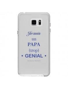 Coque Je suis un papa trop génial Transparente pour Samsung Galaxy Note 5 - Laetitia