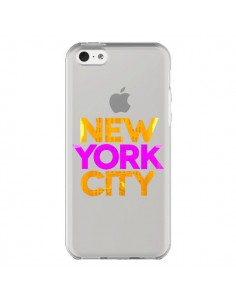 Coque New York City NYC Orange Rose Transparente pour iPhone 5C - Javier Martinez