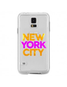 Coque New York City NYC Orange Rose Transparente pour Samsung Galaxy S5 - Javier Martinez