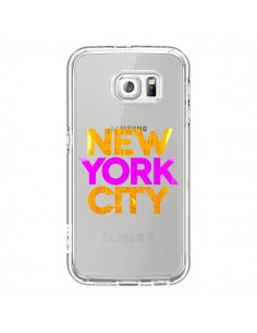 Coque New York City NYC Orange Rose Transparente pour Samsung Galaxy S6 - Javier Martinez