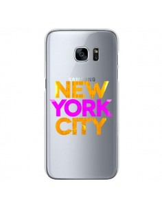 Coque New York City NYC Orange Rose Transparente pour Samsung Galaxy S7 - Javier Martinez