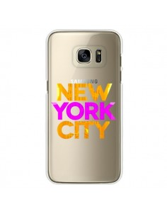 Coque New York City NYC Orange Rose Transparente pour Samsung Galaxy S7 Edge - Javier Martinez