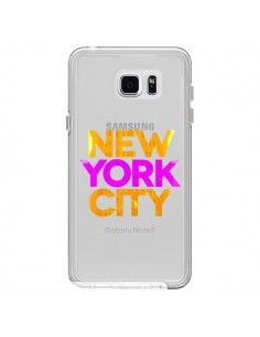 Coque New York City NYC Orange Rose Transparente pour Samsung Galaxy Note 5 - Javier Martinez