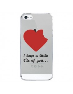 Coque I keep a little bite of you Love Heart Amour Transparente pour iPhone 5/5S et SE - Julien Martinez