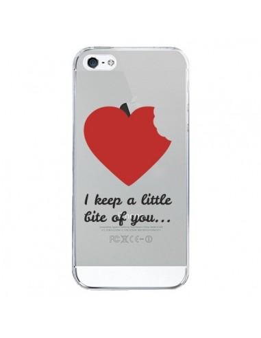 Coque iPhone 5/5S et SE I keep a little bite of you Love Heart Amour Transparente - Julien Martinez